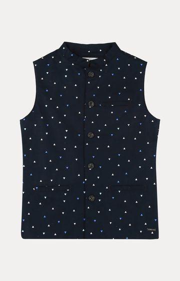Gini & Jony | Navy Polka Dots Ethnic Jacket