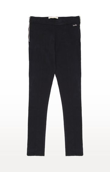 Gini & Jony | Black Solid Trousers