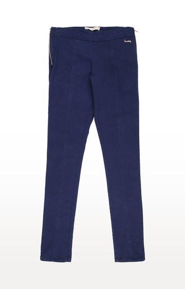 Gini & Jony | Blue Solid Trousers