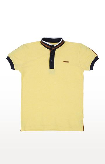 Gini & Jony | Yellow Solid Polo T-Shirt