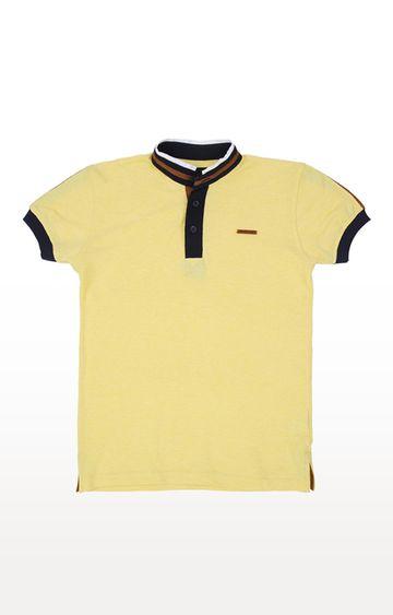 Gini & Jony | Yellow Solid Polo T-Shirt