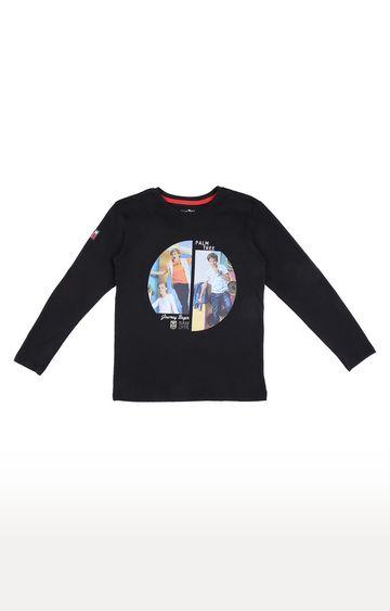Gini & Jony | Black Solid T-shirt