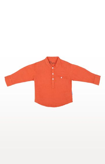 Gini & Jony | Orange Solid Shirt