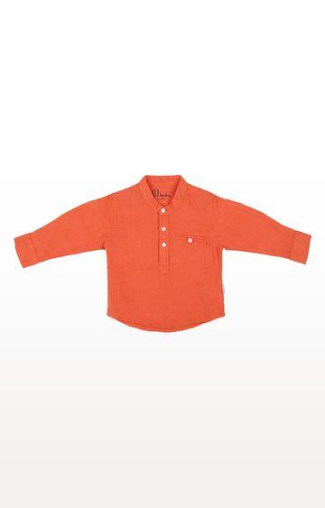 Gini & Jony | Orange Solid Shirt