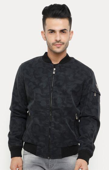 Showoff | Grey Printed Bomber Jacket