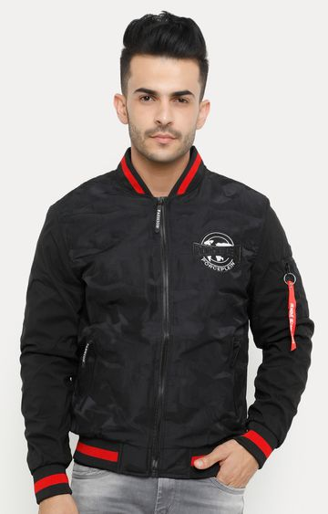 Showoff | Black Printed Bomber Jacket