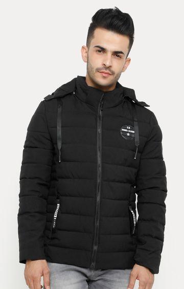 Showoff | Black Solid Bomber Jacket