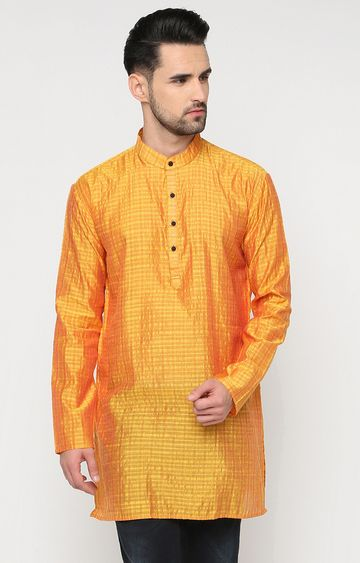 Showoff | Yellow and Orange Striped Kurta