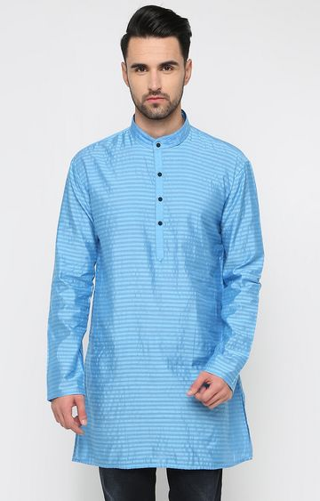 Showoff | Blue Striped Kurta