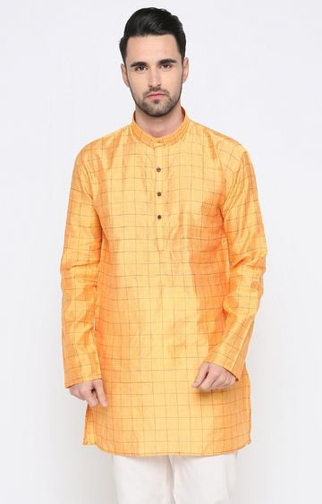 Showoff | Yellow Checked Kurta
