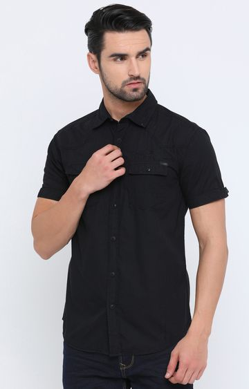 Showoff | Black Solid Casual Shirt