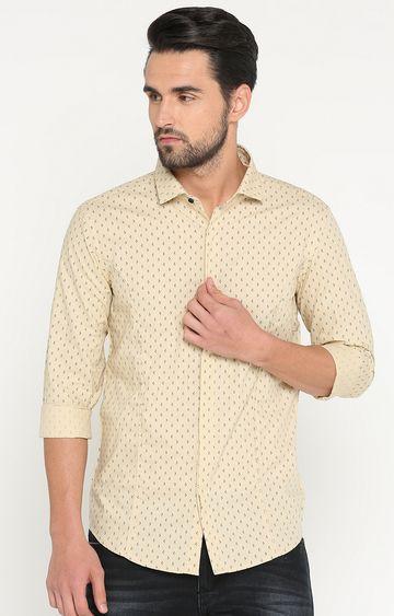 Showoff | Beige Printed Casual Shirt