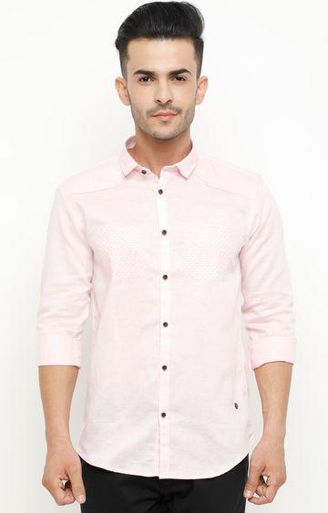 Showoff | Pink Solid Casual Shirt