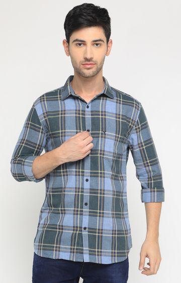Showoff | Grey Checked Casual Shirt