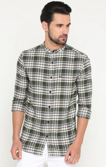 Showoff   Green Checked Casual Shirt