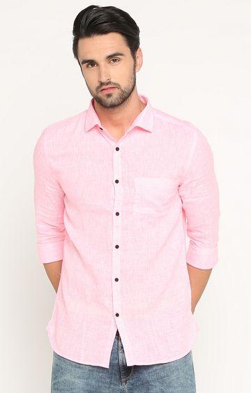 Showoff | Pink Melange Casual Shirt