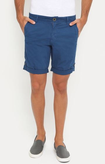 Showoff | Blue Solid Shorts