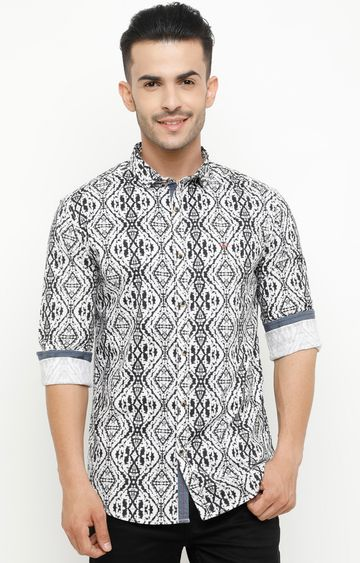 Showoff | Black Printed Casual Shirt