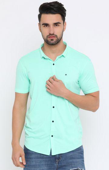 Showoff | Green Solid Casual Shirt