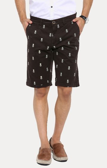 Showoff | Brown Printed Shorts
