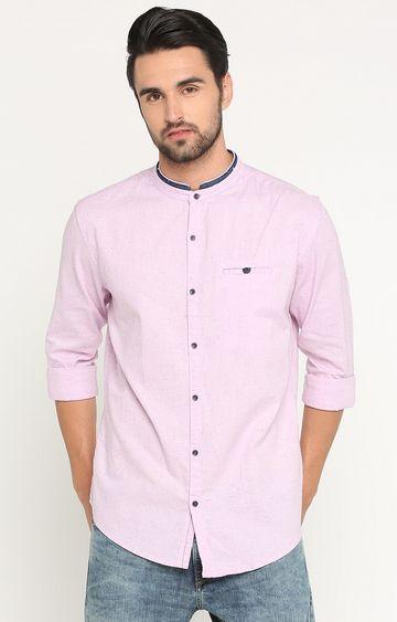 Showoff   Pink Melange Casual Shirt