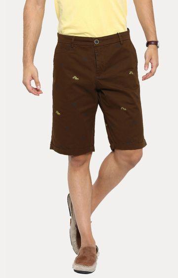 Showoff | Brown Printed Shorts