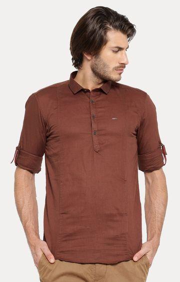Showoff | Brown Solid Casual Shirt