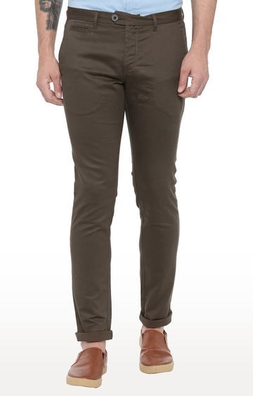 Showoff   Olive Straight Trousers