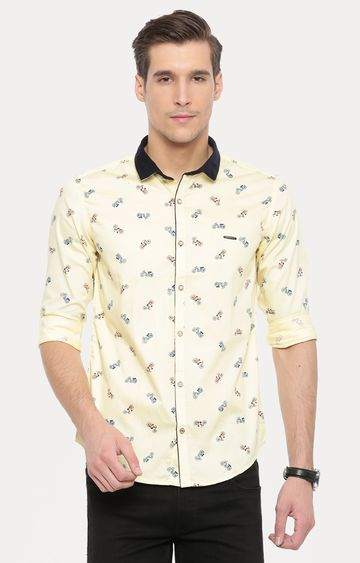 Showoff | Yellow Printed Casual Shirt