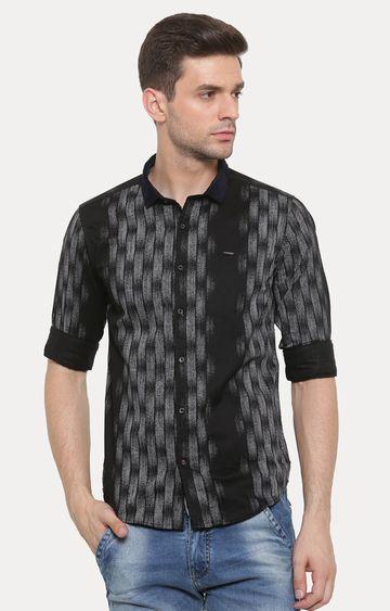 Showoff | Black Printed Casual Shirt