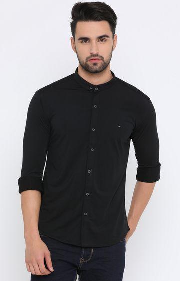 Showoff | Black Solid Casual Shirt