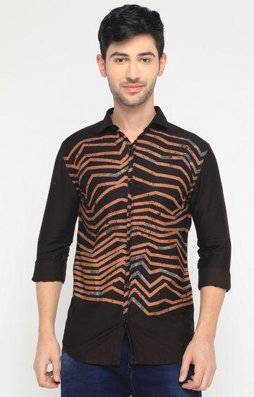 Showoff   Brown Printed Casual Shirt