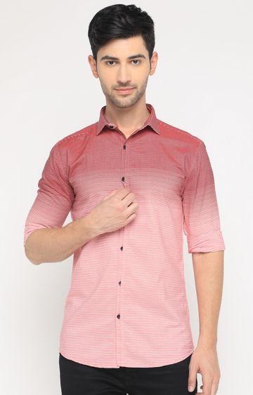 Showoff | Pink Striped Casual Shirt