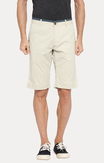 Showoff | White Solid Shorts