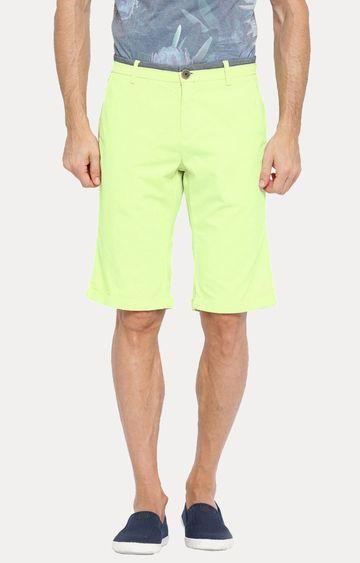Showoff | Green Solid Shorts