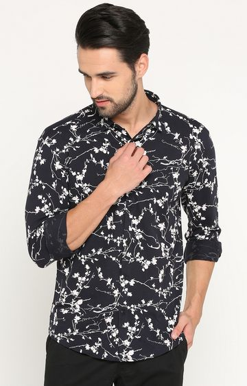 Showoff | Navy Printed Casual Shirt