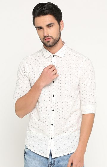 Showoff | White Printed Casual Shirt