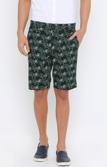 Showoff | Green Printed Shorts