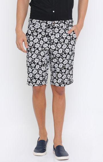 Showoff | Black Printed Shorts