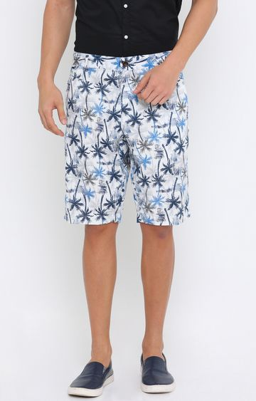 Showoff | White Printed Shorts