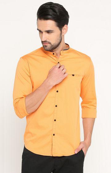 Showoff | Orange Solid Casual Shirt