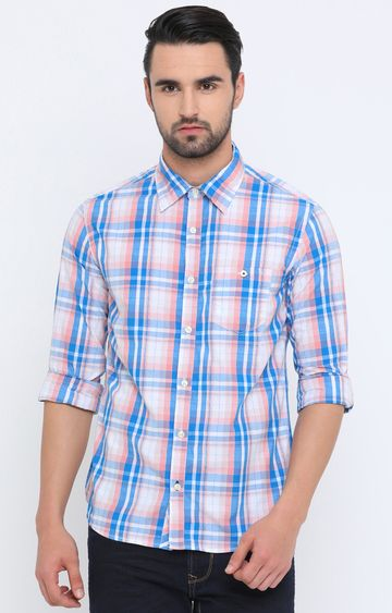 Showoff | Multicoloured Checked Casual Shirt