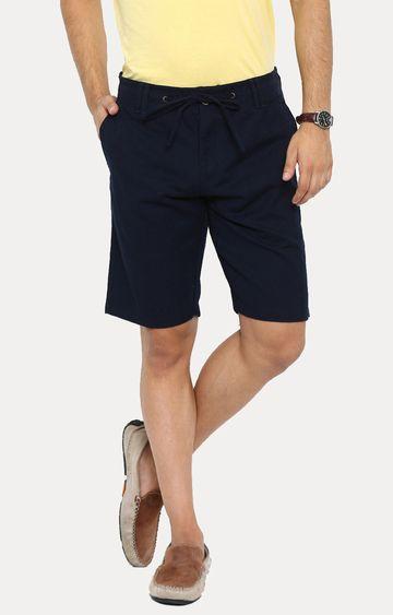 Showoff | Navy Blue Solid Shorts