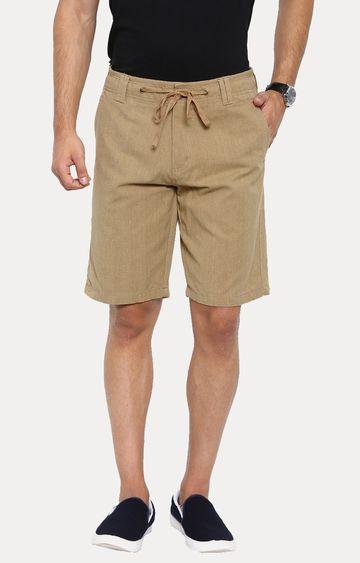 Showoff | Khaki Solid Shorts