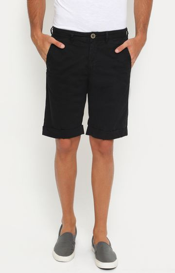 Showoff | Black Solid Shorts