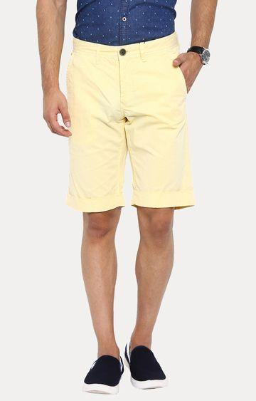 Showoff | Yellow Solid Shorts