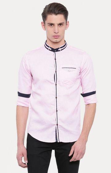 Showoff   Pink Solid Casual Shirt