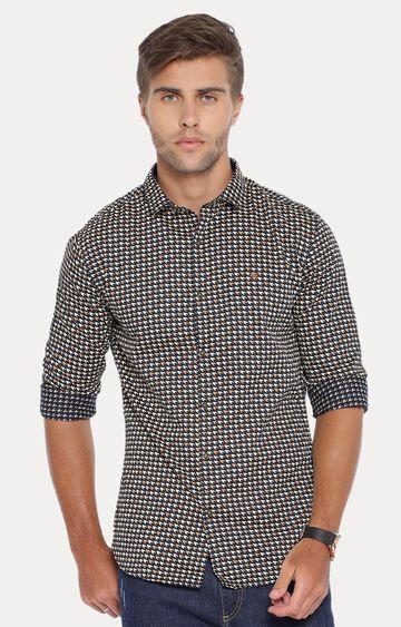 Showoff | Black Patterned Casual Shirt