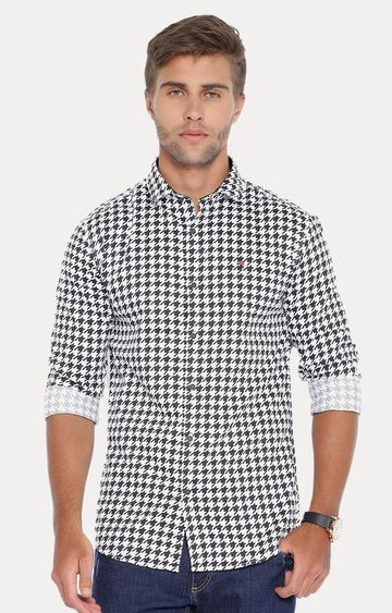 Showoff | White Checked Casual Shirt