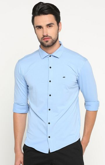 Showoff | Blue Solid Casual Shirt